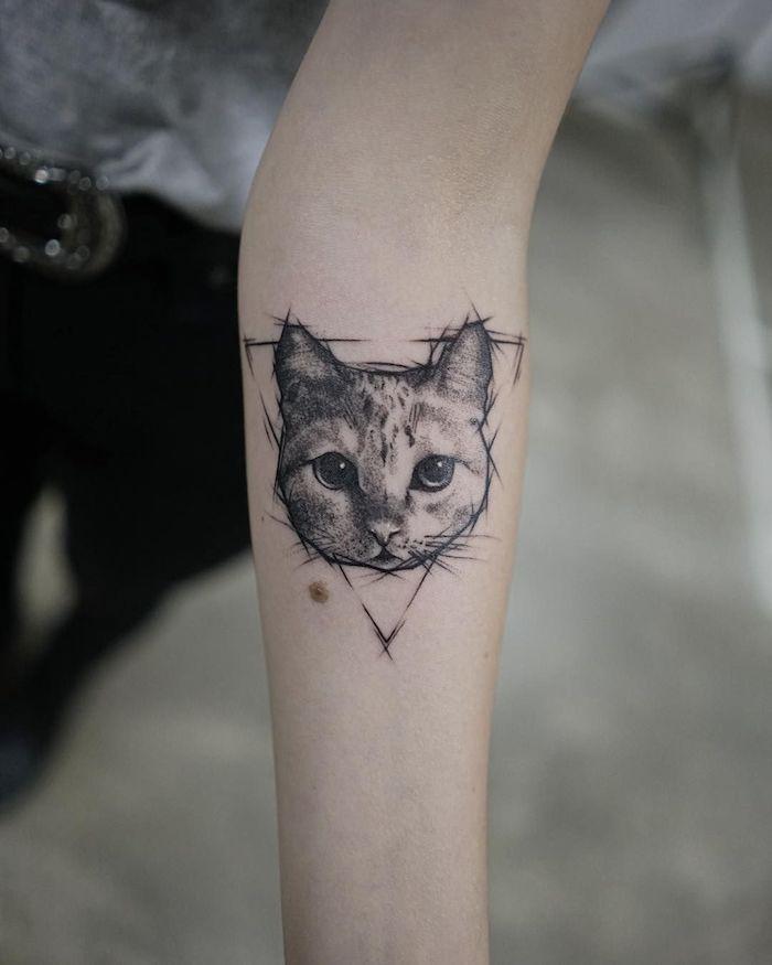 ลายสักแมวแขน3