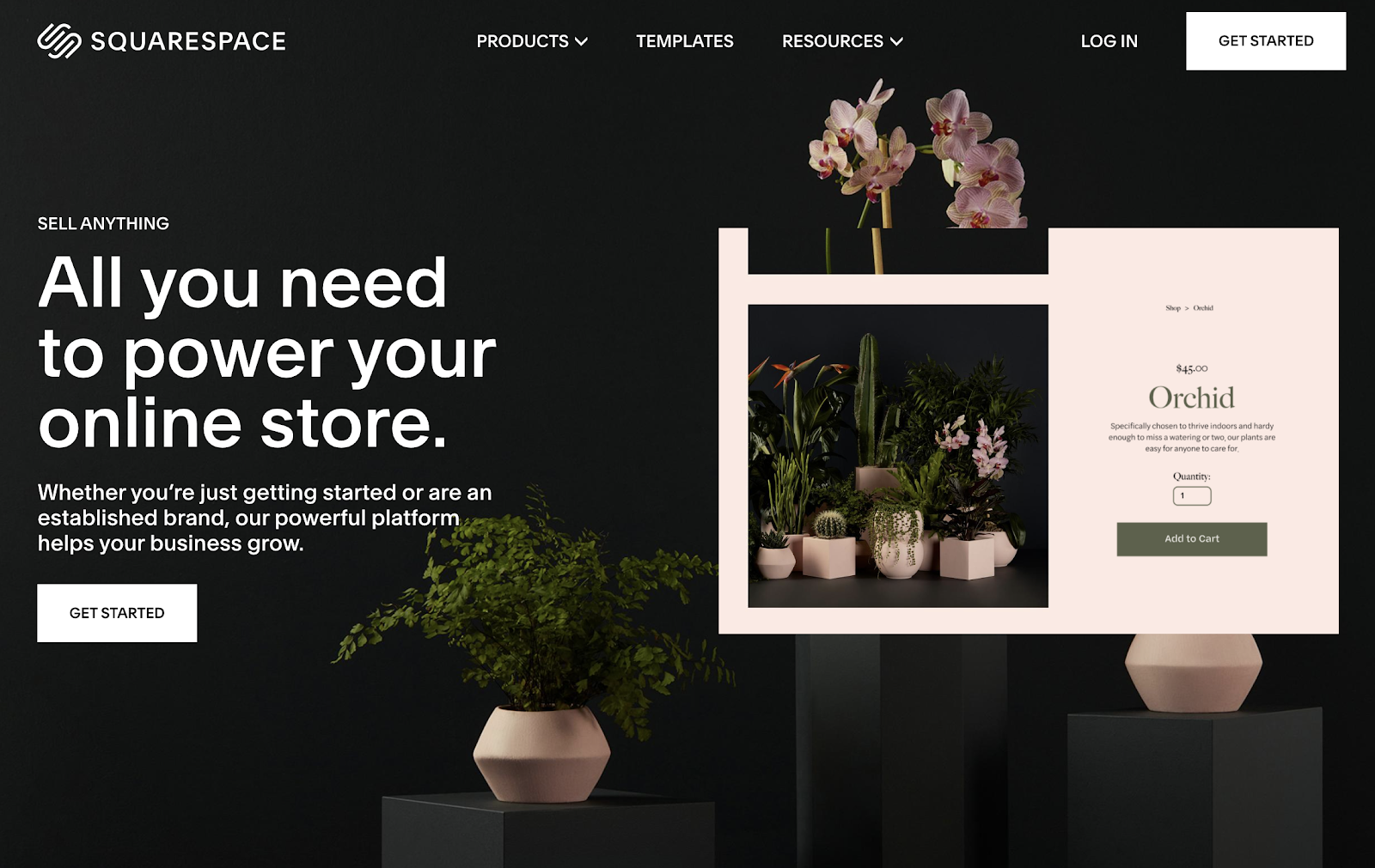Squarespace ecommerce website builder