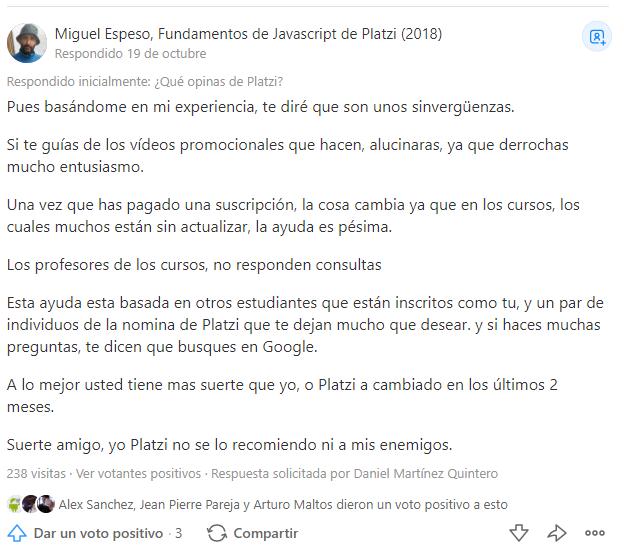 Miguel se sorprende porque lo enviaron a buscar soporte en Google