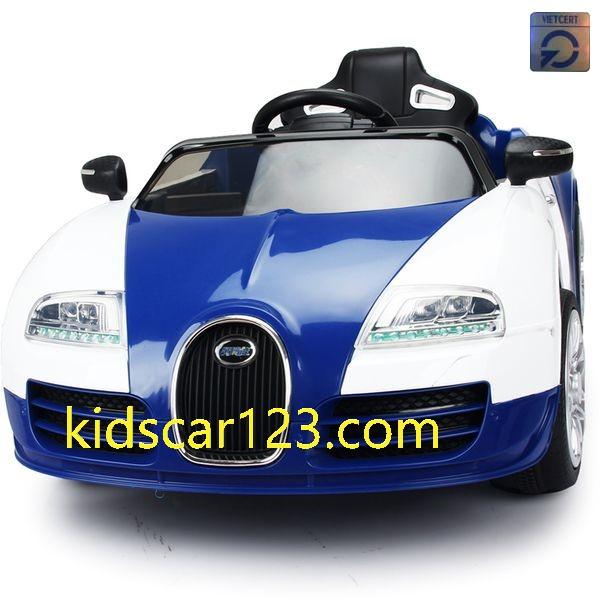 Xe ô tô BUGATTI có ghế mát xa JE1188 màu xanh