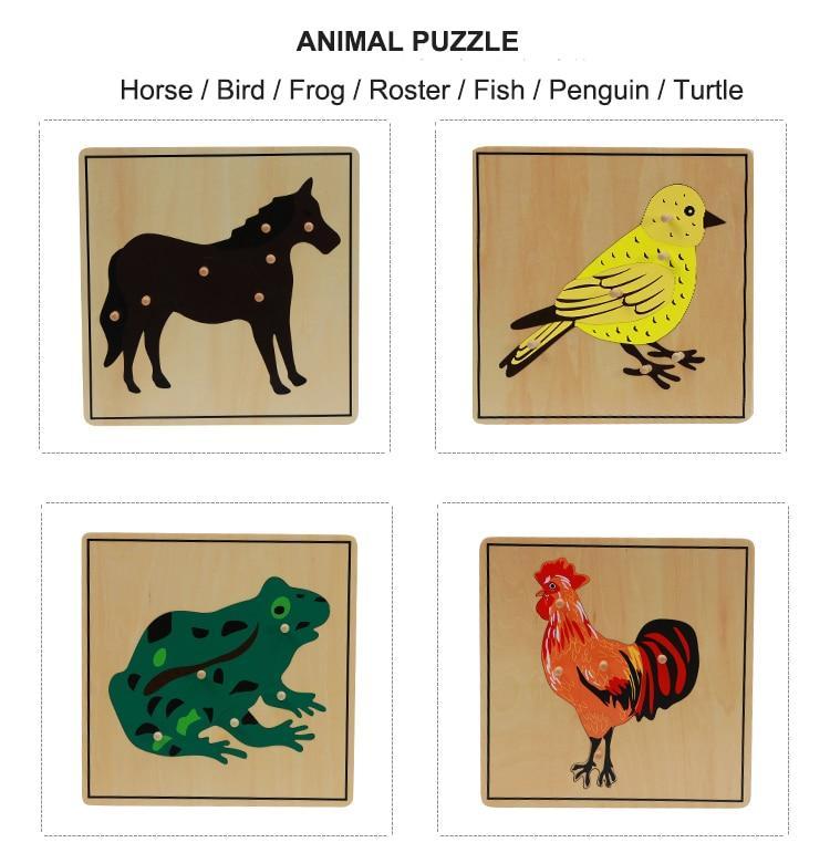 puzzle animaux montessori puzzle en bois activité