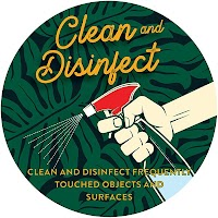 "9"" Green Circle - Clean & Disinfect"