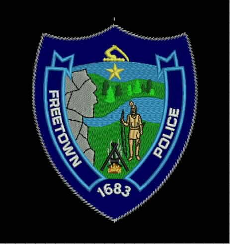 Freetown MA PD shoulder emblem on BLACK.JPG