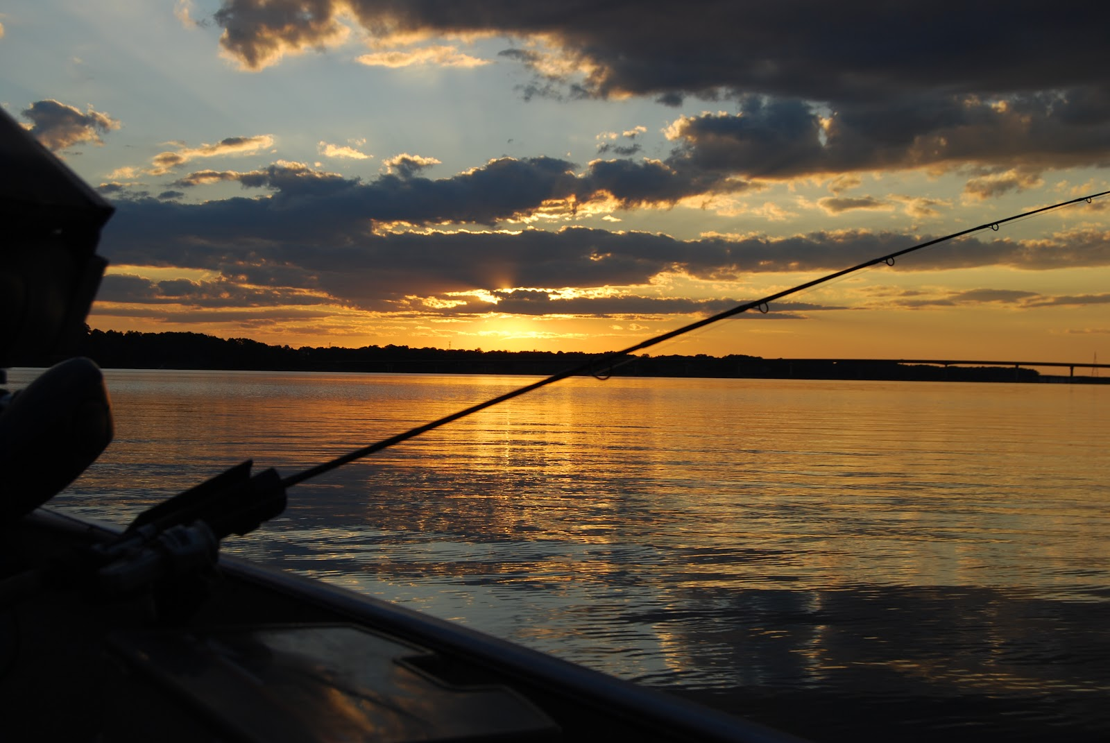 File:Sunset fishing pole at Occoneechee State Park (6076912041 ...