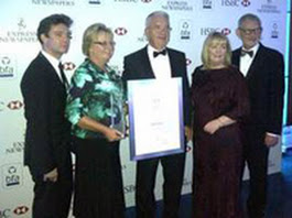 Shirley & Ron Maynard, Card Connection franchisees, pictured second from left and centre