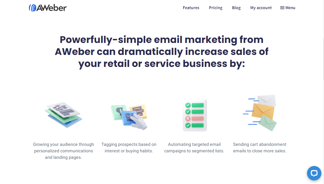 AWeber for E-commerce