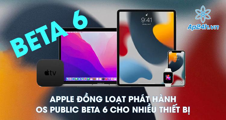Apple ra mắt OS Public Beta 6
