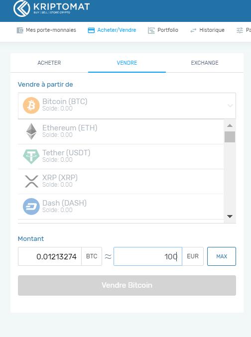 Acheter et vendre simplement du Bitcoin et des cryptomonnaies sur Kriptomat