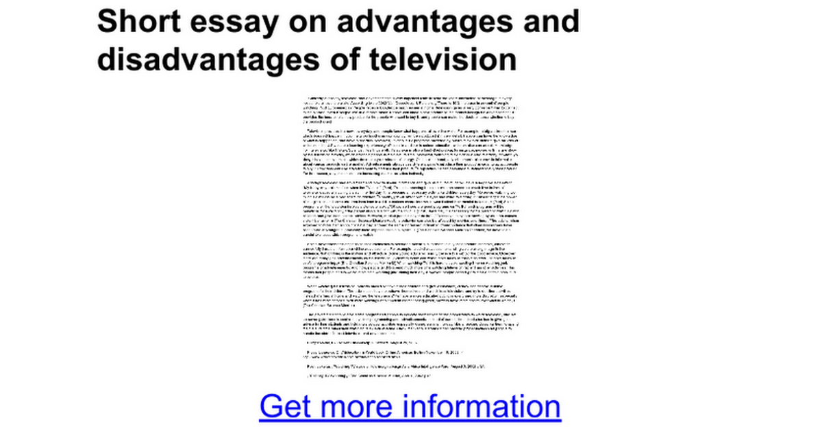 uses of television essay What does mise-en-scene contribute to our understanding of character and plot in the chosen related as and a level television essays analyse the use of.