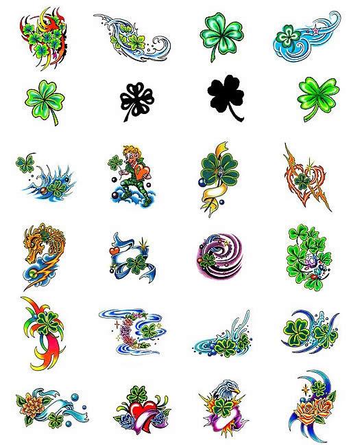 Trevo De Quatro Folhas   Desenhos  Significados E Fotos De Tatuagens