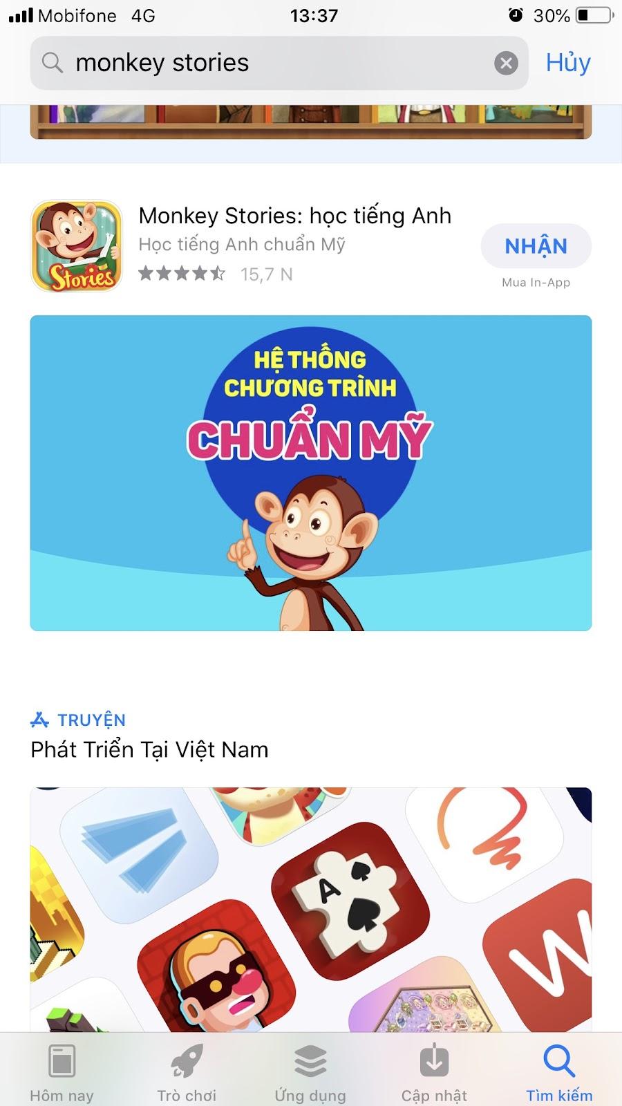 tải phần mềm Monkey Stories trên điện thoại