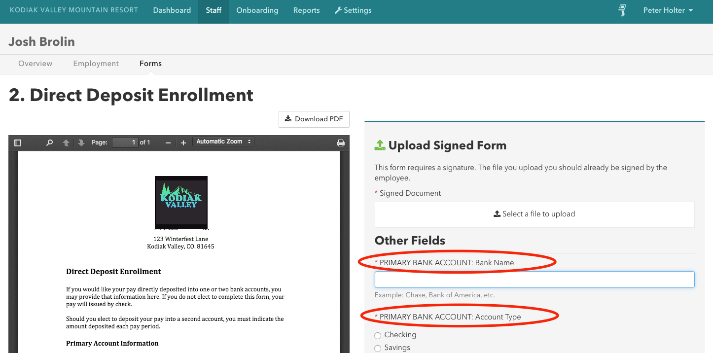Then You Will Be Asked To Upload A Signed Document Andplete Those Required  Fields This Is