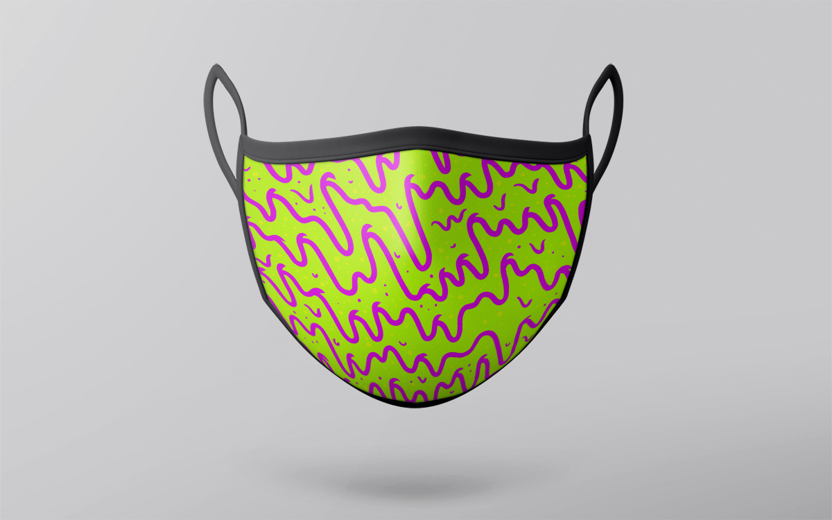 neon pattern mask design