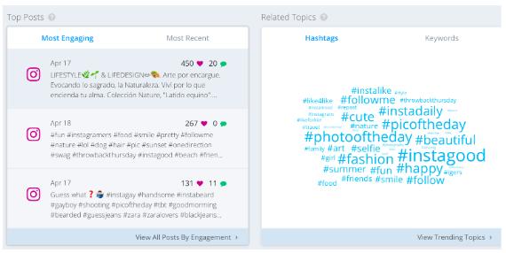 hashtag hàng đầu trên Keyhole