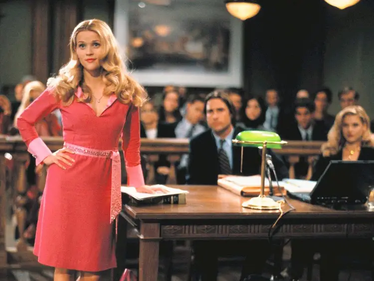 Reese Witherspoon as Elle Woods on Left Image via MGM Studios