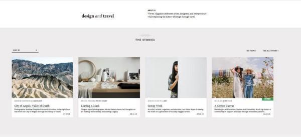 Woven Magazine blog layout