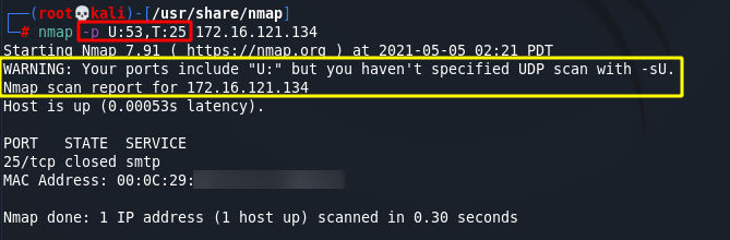 [NMAP Scan Any Port]: Scan ports by protocol. Source: nudesystems.com