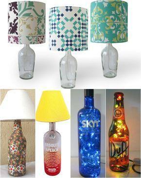 garrafas de vidro reciclado