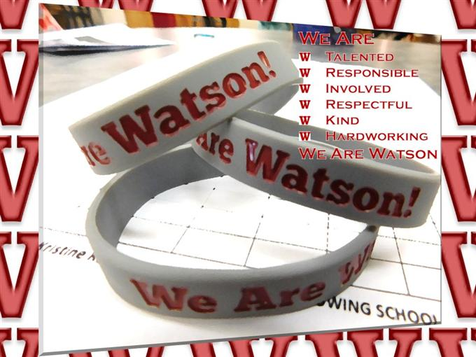 We Are Watson Bracelets: Talented, Responsible, Involved, Respectful, Kind & Hardworking