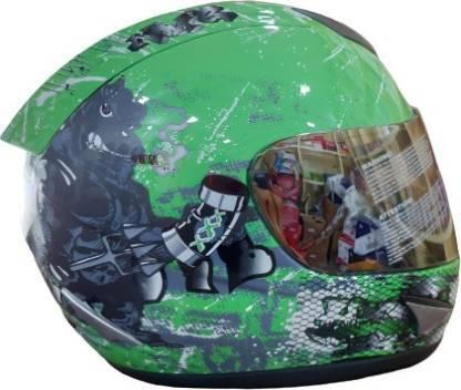 THH HELMETS TS-41 BULL DOG GREEN M/VISOR 570/580MM/L FULL FACE HELMET Motorsports Helmet