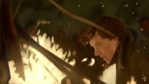 This is just...dramatic! Sherlock saving John from a bonfire in The Empty Hearse.: