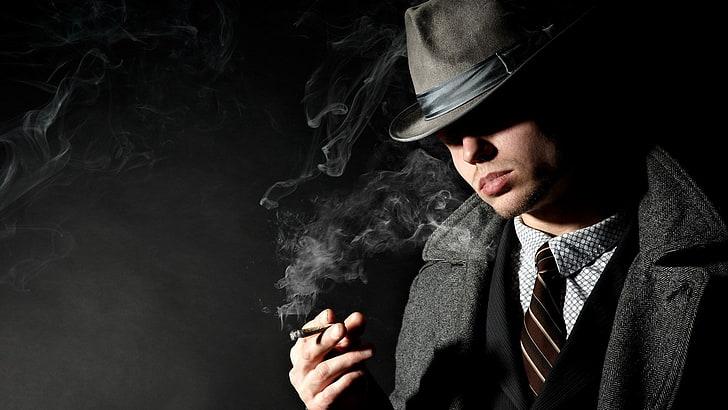 gangster desktop  hd pics, smoke - physical structure, smoking - activity, HD wallpaper