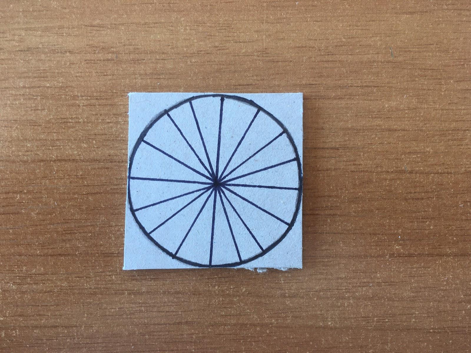 Trazado de los arcos que forman la circunferencia.