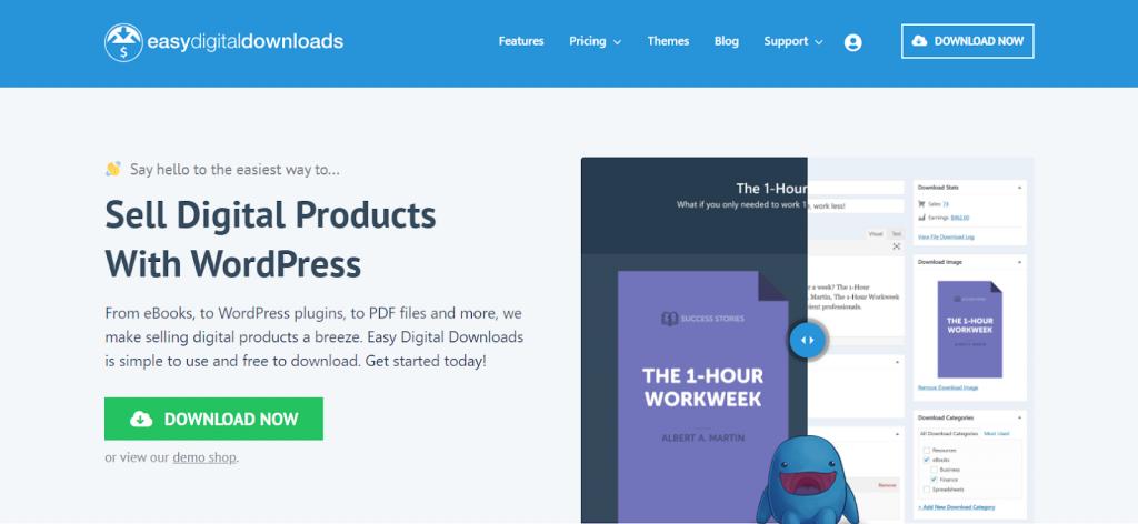 plugin de loja virtual wordpress easydigitaldownloads