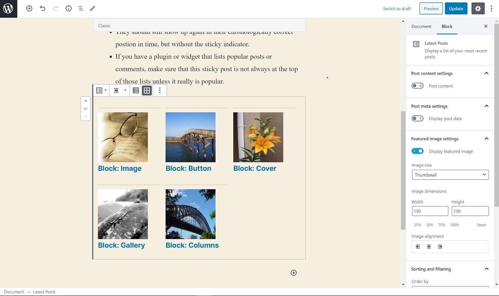 list posts by category using widget plugin