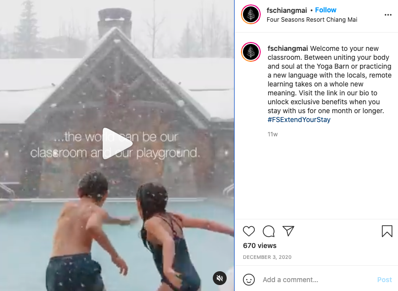 Wellnes and SPA instagram post example