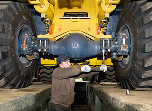 Réparation de machines de génie civil