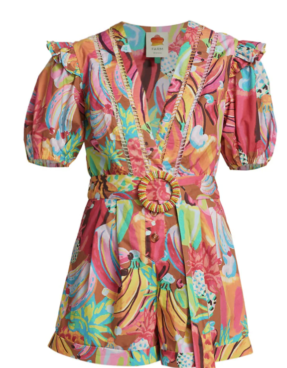 Packing for August Travel.  Karen Klopp top choices from FARM RIO fashion