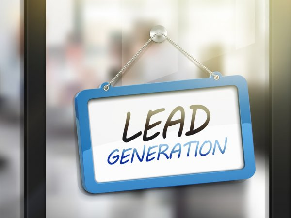 a signage with words that states lead generation