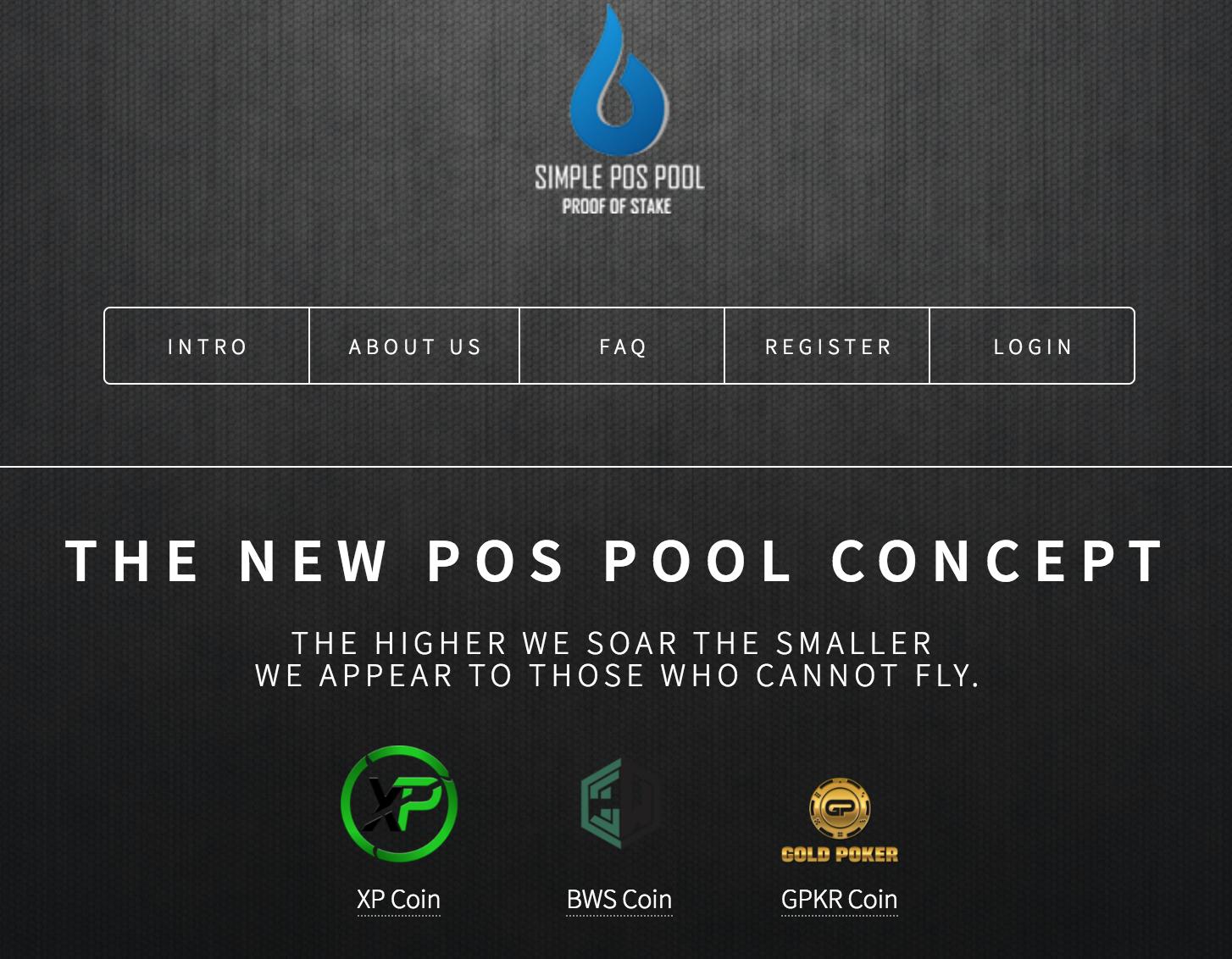 homepage SimplePosPool masternodes
