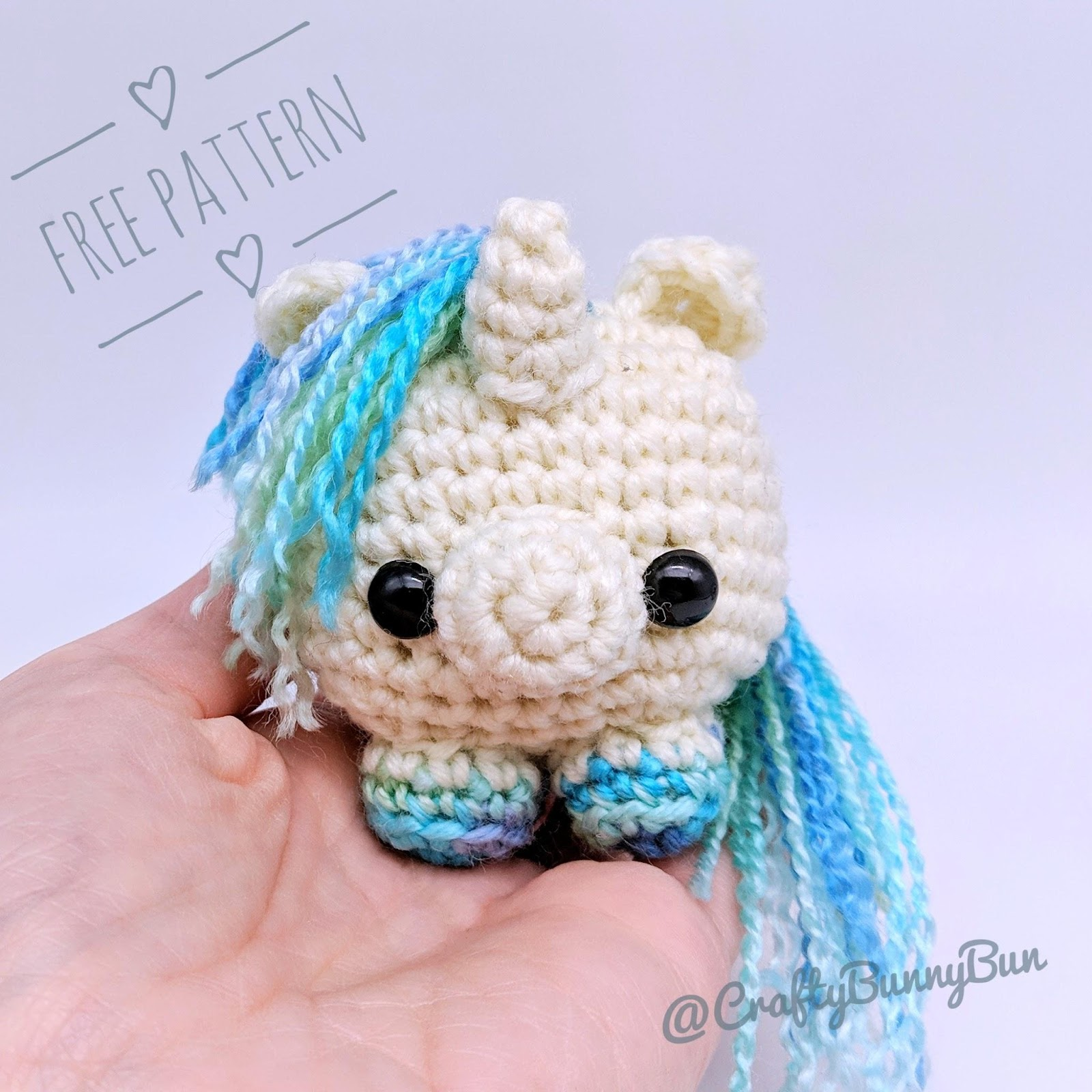 Cube Little Unicorn Amigurumi Pattern