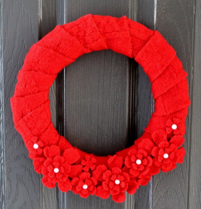 Valentines Day Sweater Wreath