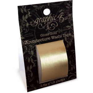 Architecture Washi Tape - Gloss Gold