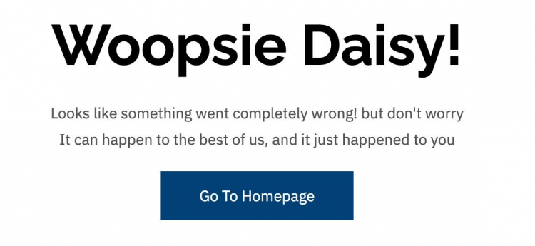 whiipsie daize error message