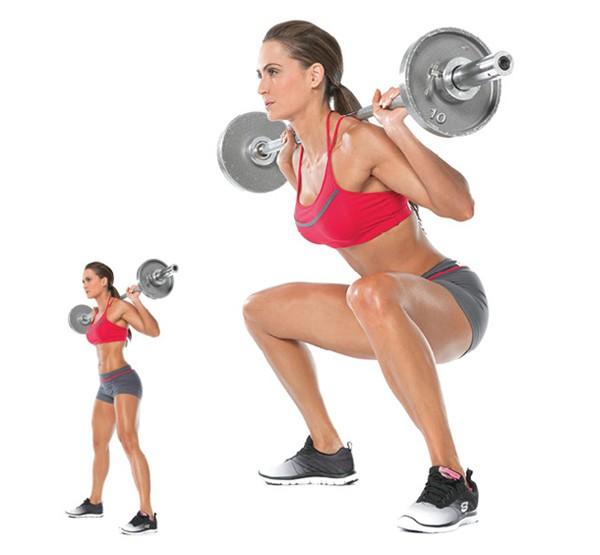 Bài tập gánh tạ + squat