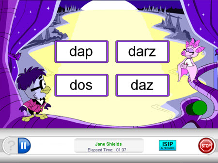 alphabetic decoding question example in iStation