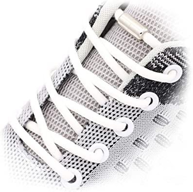 Amazon.com: 2 Pairs No Tie Elastic Shoelaces fit Adults and Kids,Shoelaces  Replacement No Tie,Shoelaces for Sneaker No Tie: Shoes