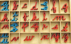 alfabeto montessori