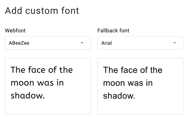 If an obscure email provider cannot load a custom web font, it has a screenshot of the Gate Response Email Creator showing the option to choose a failback font.