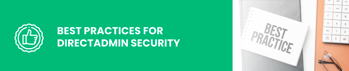 best practices for directadmin security