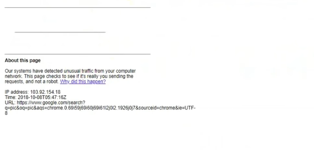 Google unusual traffic message