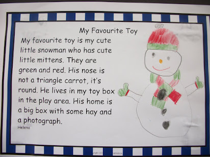 My favourite toy essay for class 4