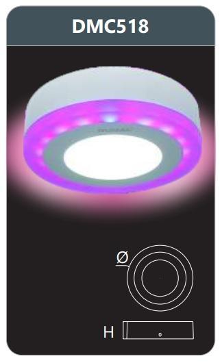 Đèn led ốp trần đổi màu DMC518 18W 1510Lm