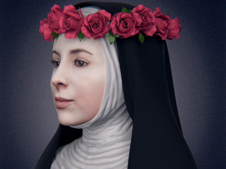 Image of the 3D reconstruction of the face of St. Rosa de Lima by Brazilian scientists. Photo courtesy of Foco News Agency