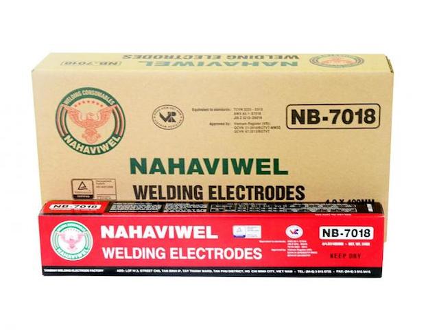 Que hàn điện nb-7018 5 ly sử dụng để hàn kết cấu thép có độ bền kéo 560N/mm2