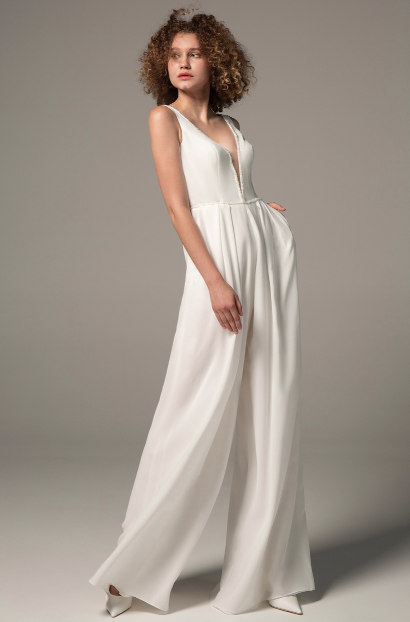jumpsuit wedding dress by Coco Melody